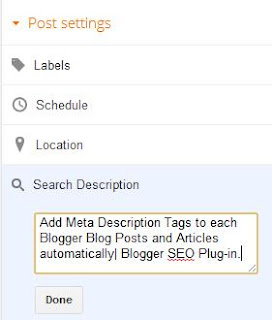 Blogger Blog Meta Tag Generator Plug-In
