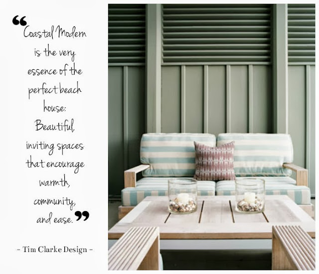 Tim Clarke Design upon commenting about the essence of a perfect beach house