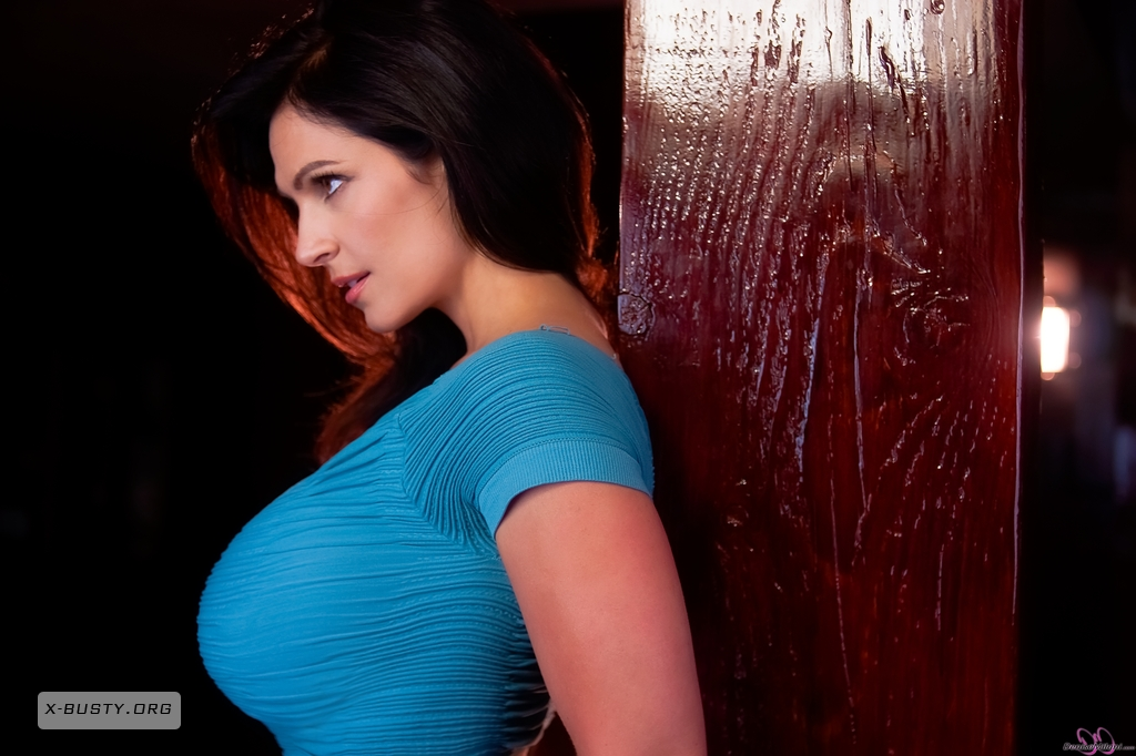 Denise Milani Sexiest Photoshoots: Denise Milani: Blue Dress 2 Denise Milani Blue Dress