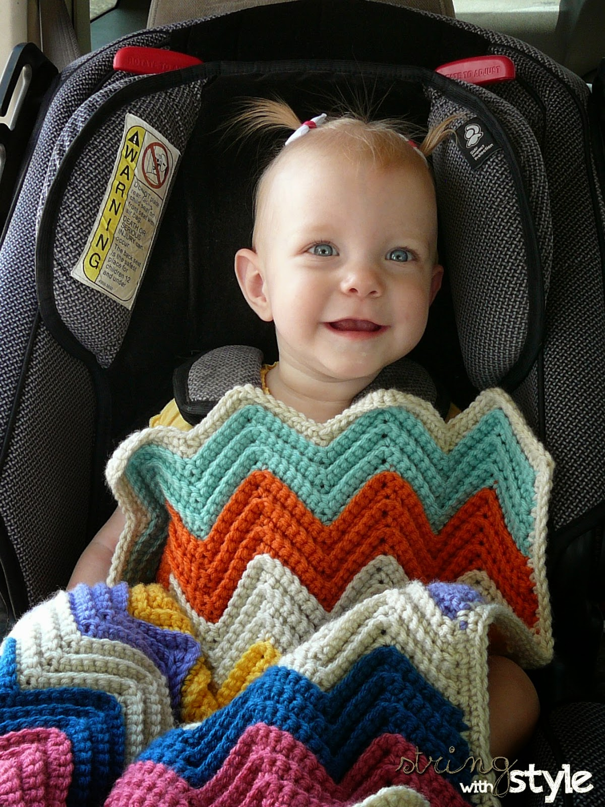String With Style: Bobble Car Seat Blanket