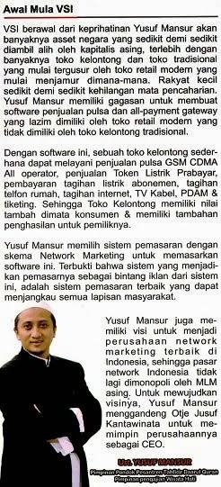 Visi Ustadz Yusuf Mansur