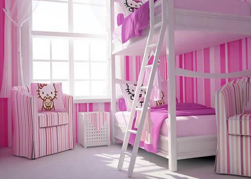 Bố trí hợp lý vật dụng trong phòng ngủ của bé gái
