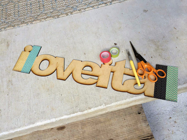 Washi Tape Letter Sign | iloveitallwithmonikawright.com