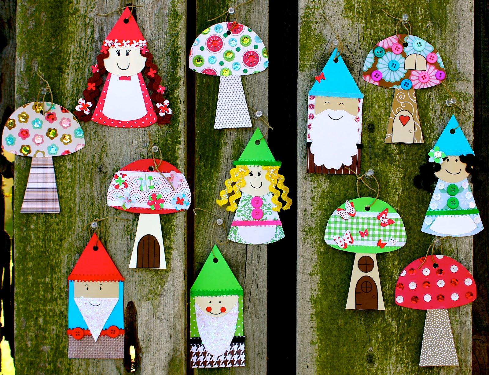 Smart bottom enterprises gnome and mushroom banner craft kit for Craft kits for preschoolers