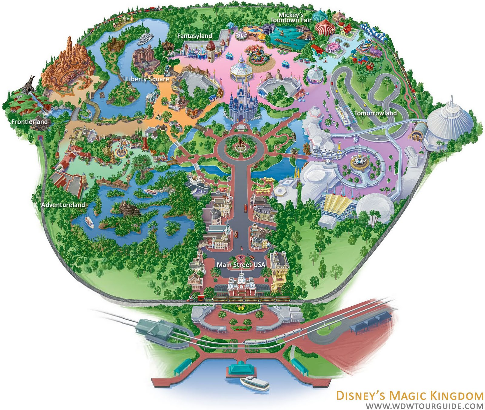 Free Custom Park Maps From Walt Disney