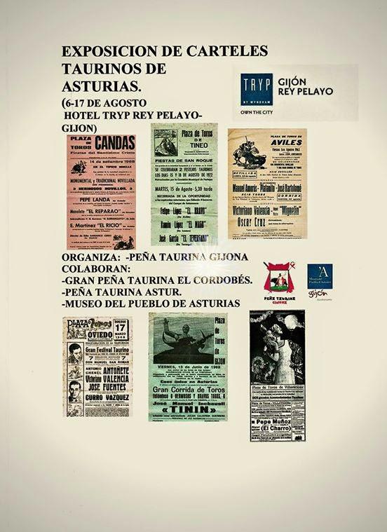 GRAN EXITO DE LA EXPOSICION DE CARTELES TAURINOS DE ASTURIAS DEL TRYP
