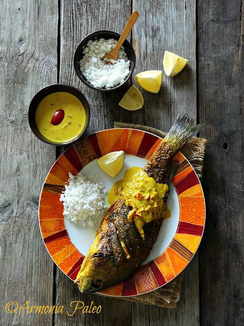 Pesce alla Griglia con Salsa al Cocco del Kenya di Armonia Paleo