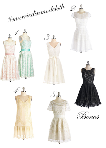 #marriedinmodcloth | Pennies & Paper Blog