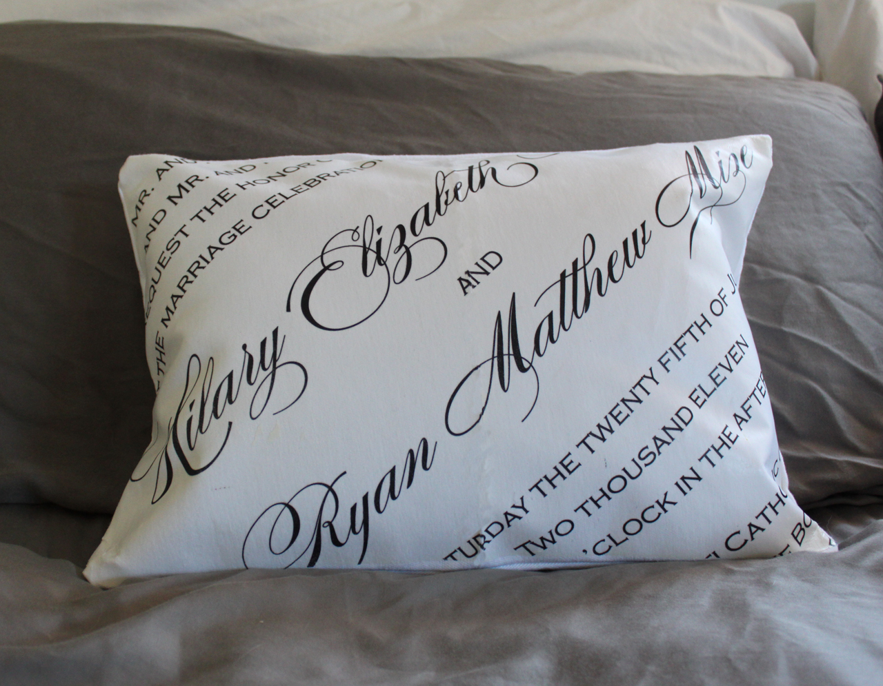 231 Designs: DIY CUSTOM PILLOW COVERS WITH INVITATION ART FOR A ...