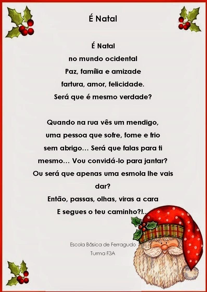 Amado Mundo dos Livros: Poema de Natal da turma F3A UN36