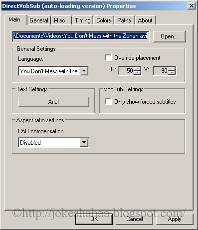 DirectVobSub_VSFilter_Software