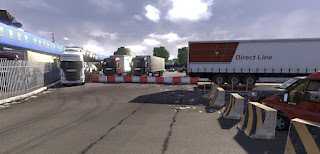 Scania truck driver simulator game Leave_the_port