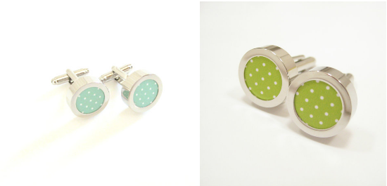 Polkadot groom cufflinks, alternative cufflinks, gemelli alternativi, matrimonio alternativo, alternative wedding