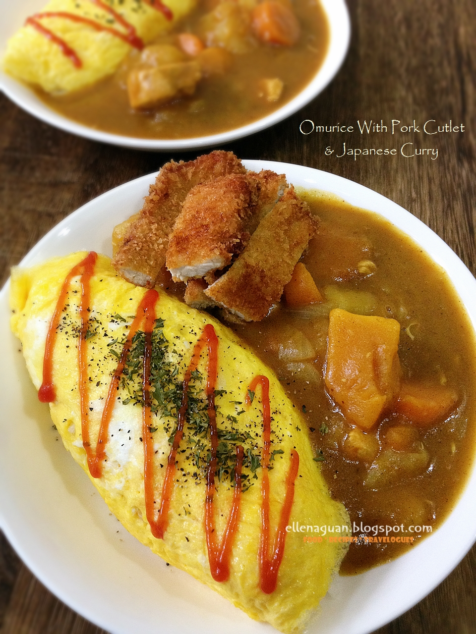 Cuisine paradise singapore food blog recipes reviews and travel omurice and pork cutlet with japanese curry forumfinder Image collections