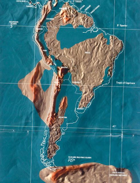 Brasil e america do sul em 2036, mapa apos tribulação