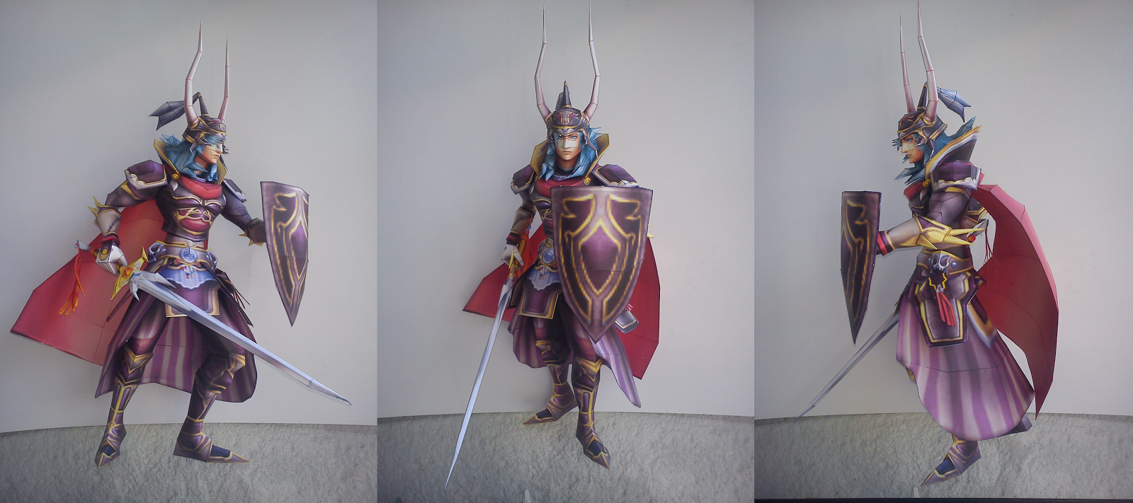 Warrior of Light Amethyst Armor Papercraft
