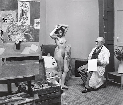 Brassai - Matisse with his model, 1939