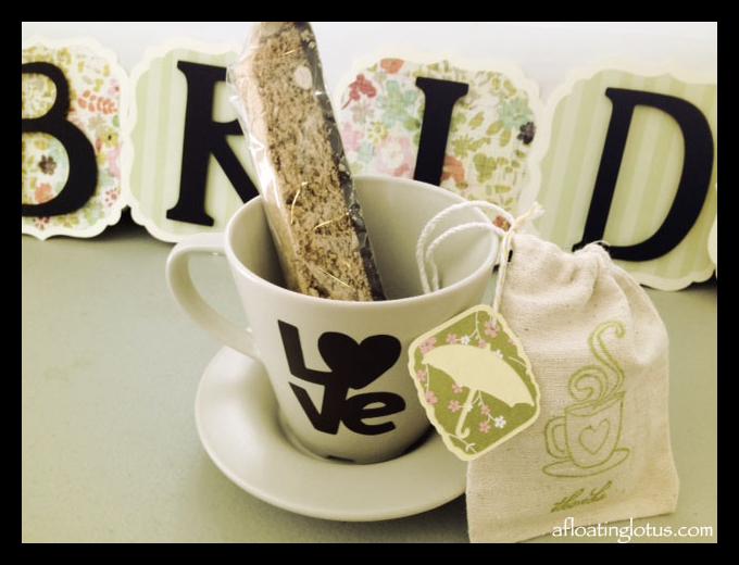 bridal shower tea party favor