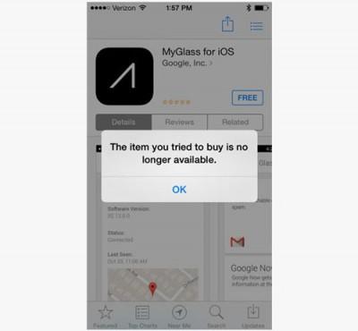 Setelah Rilis, Google Tarik Kembali Aplikasi MyGlass dari Apple App Store