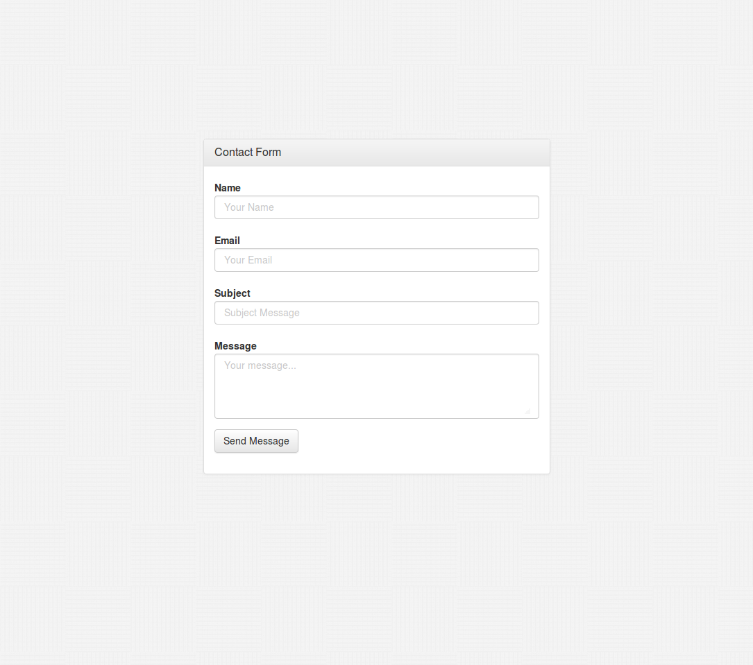 How to create a PHP Bootstrap 3 Contact Form which works with – Contact Form