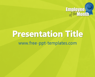 Employee of the Month PPT Template | Free PowerPoint Templates