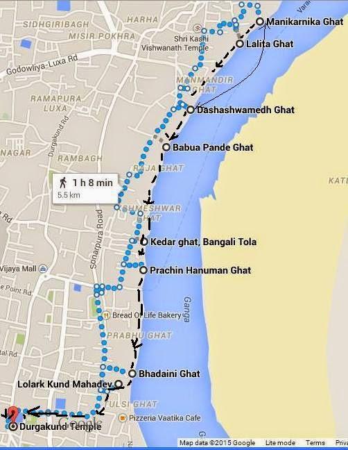Varanasi Map Of Ghats - Varanasi map