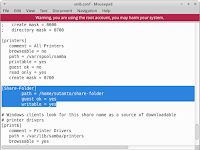 Share Linux Folder menggunakan Samba