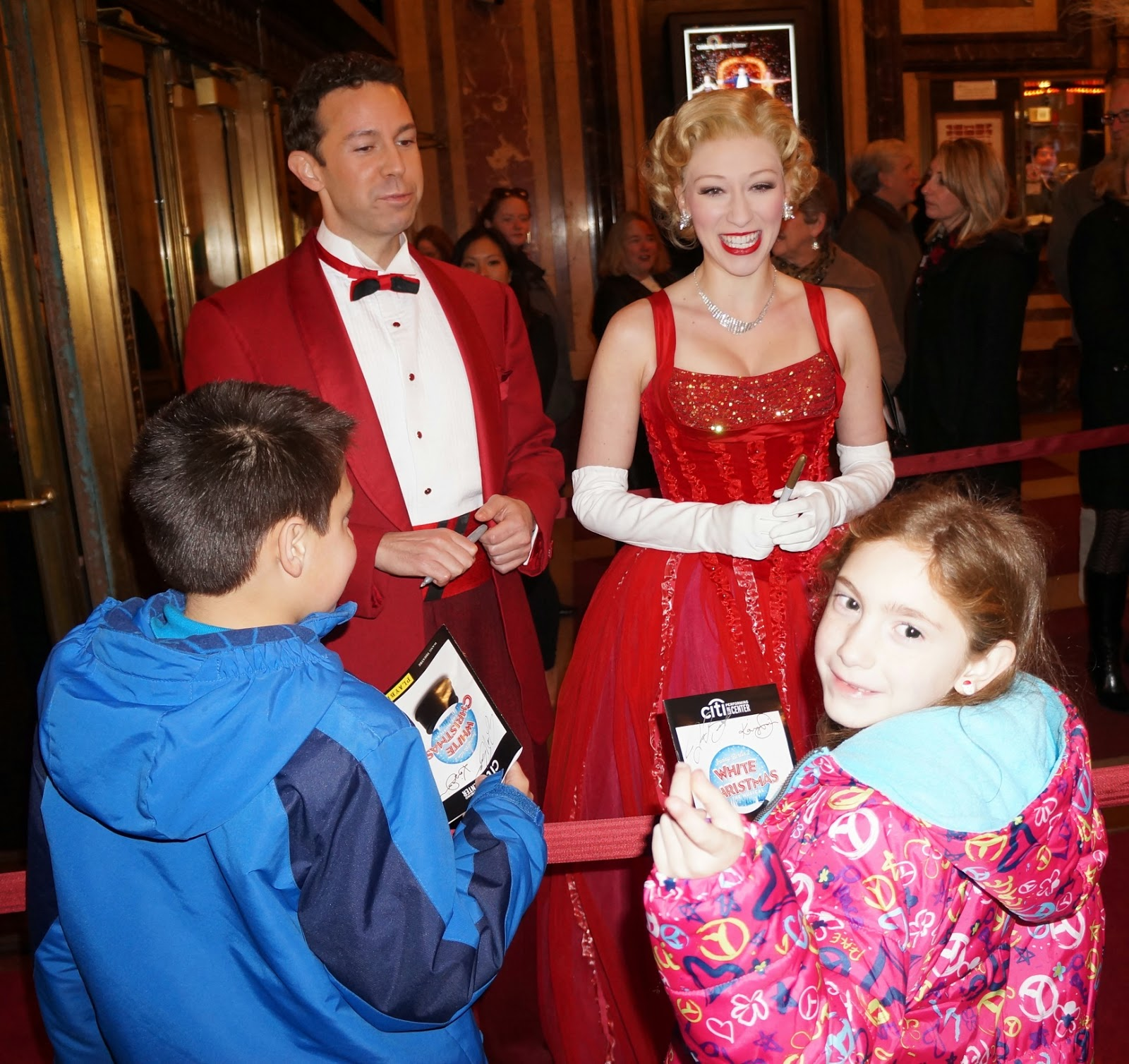 not only did we see the show but we also got to attend a red carpet opening night star studded arrival of the cast - When Did White Christmas Come Out