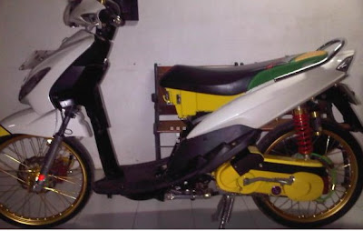 ide modifikasi mio sporty warna putih