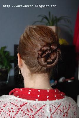 frisyrer, hair styles, long hair styles, knots, knut, hårknut, flätad hårknut, braided hair knot