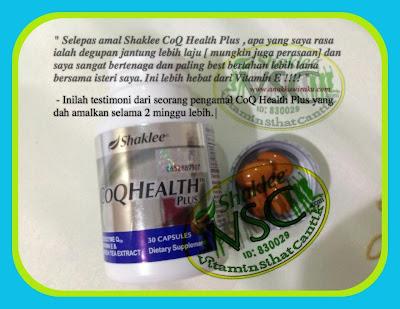 CoQ Health Plus,Shaklee Utara ,Subur,Vitamin Suami Isteri