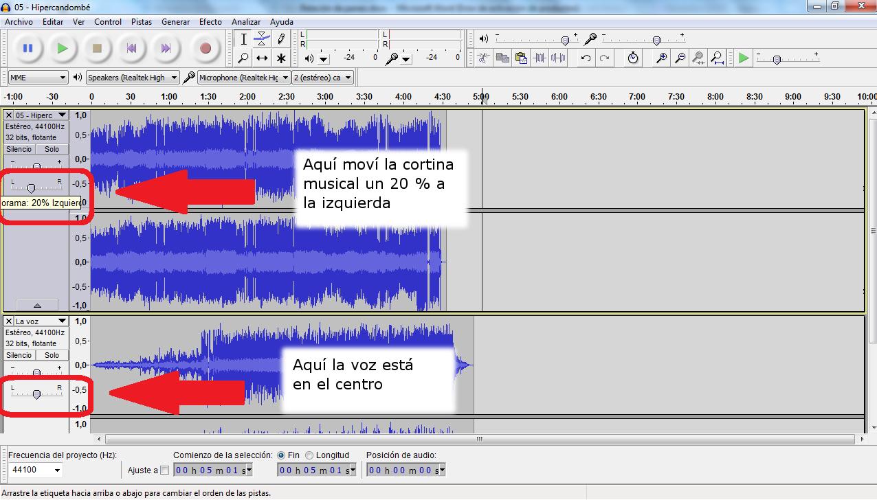 Edición de audio, lenguaje radiofónico, audacity, Tic