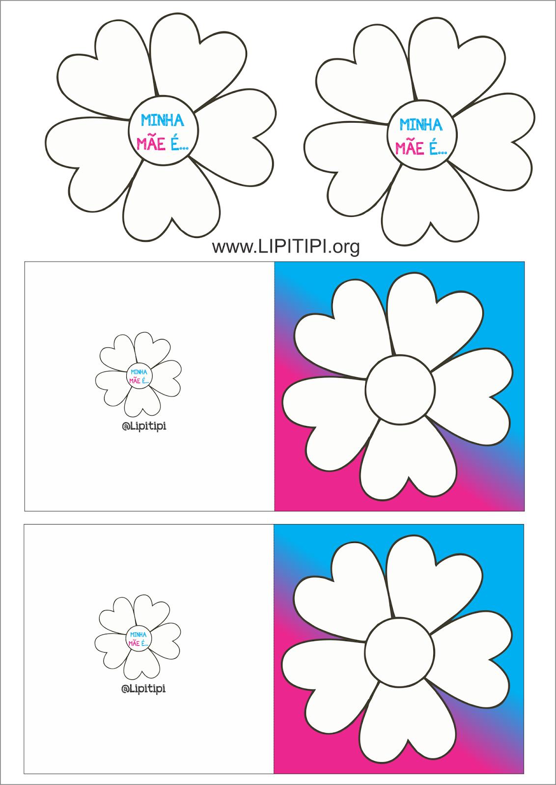 Cartão Criativo para o Dia das Mães com Imprimível Grátis