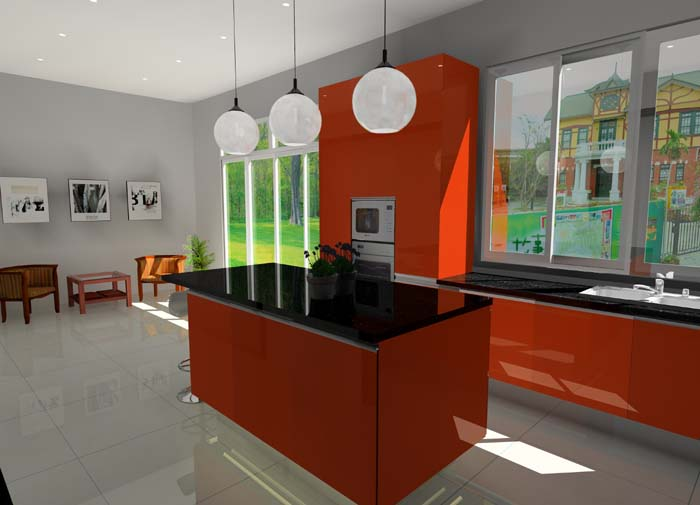 Graphic design course for architecture buildings and interior design kursus senireka grafik Kitchen design cad courses