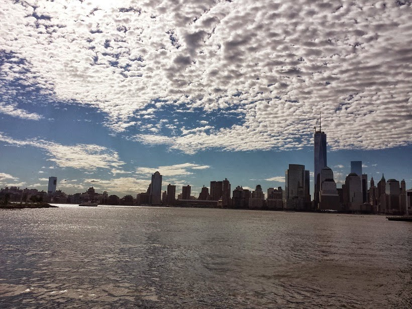 Cirrocumulus clouds, Manhattan skyline