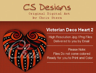 Victoral Decorative Heart digital stamp