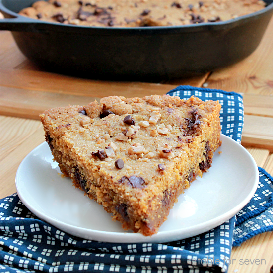 Iron Skillet Chocolate Chip Toffee Cookie