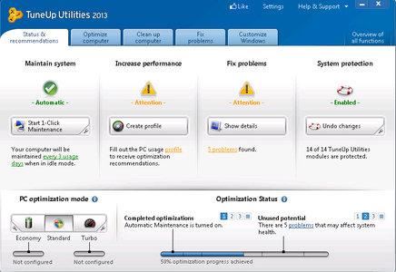 Full Antivirus y Optimizacion: TuneUp Utilities 2013 V13.0.2020