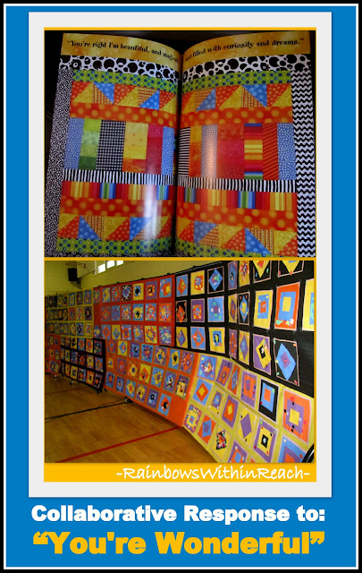 photo of: Collaborative Bulletin Board in Response to Picture Book &quot;You're Wonderful&quot; (from Bulletin Board RoundUP by RainbowsWithinReach) 