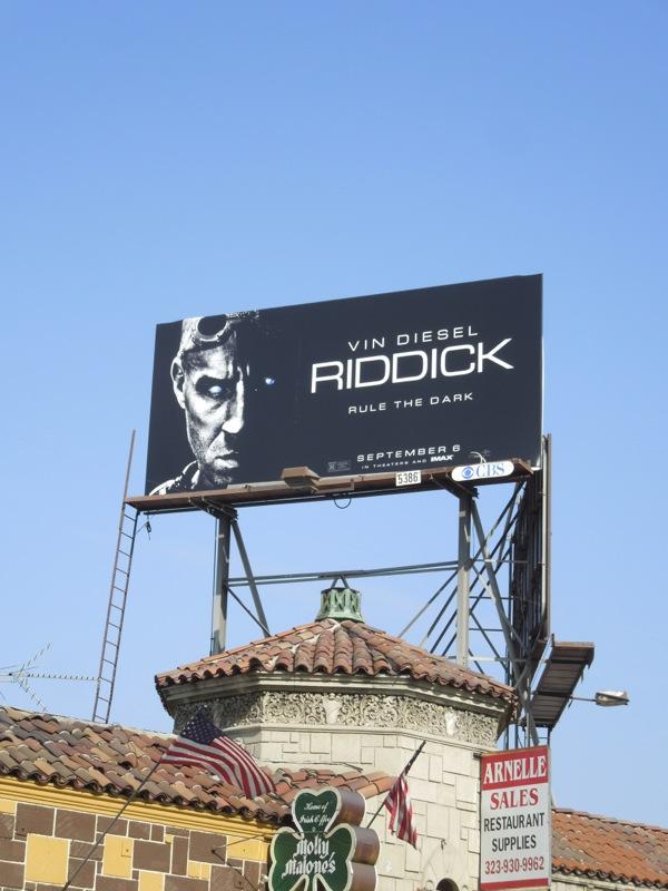 Riddick movie billboard