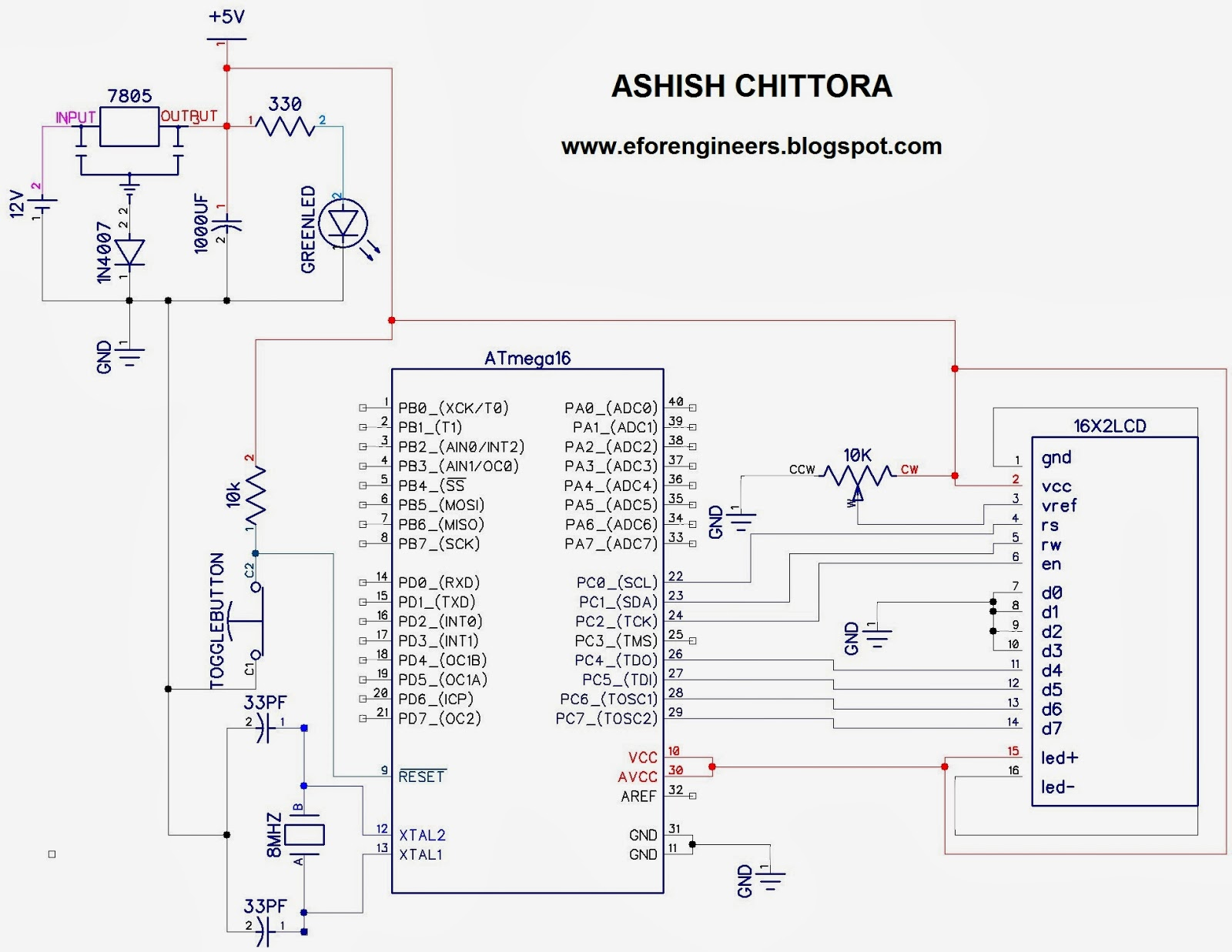 projects for you  lcd interfacing with atmega16 in 4