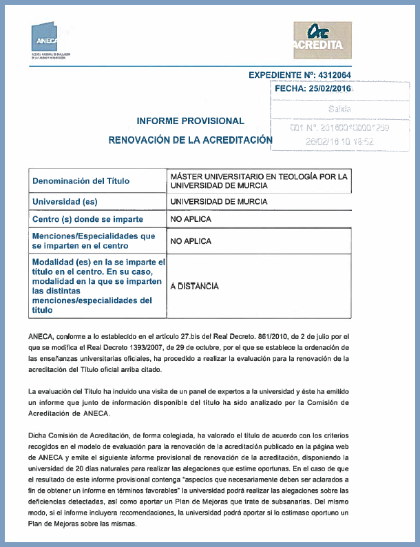 Informe Final 2ª Acreditación ANECA