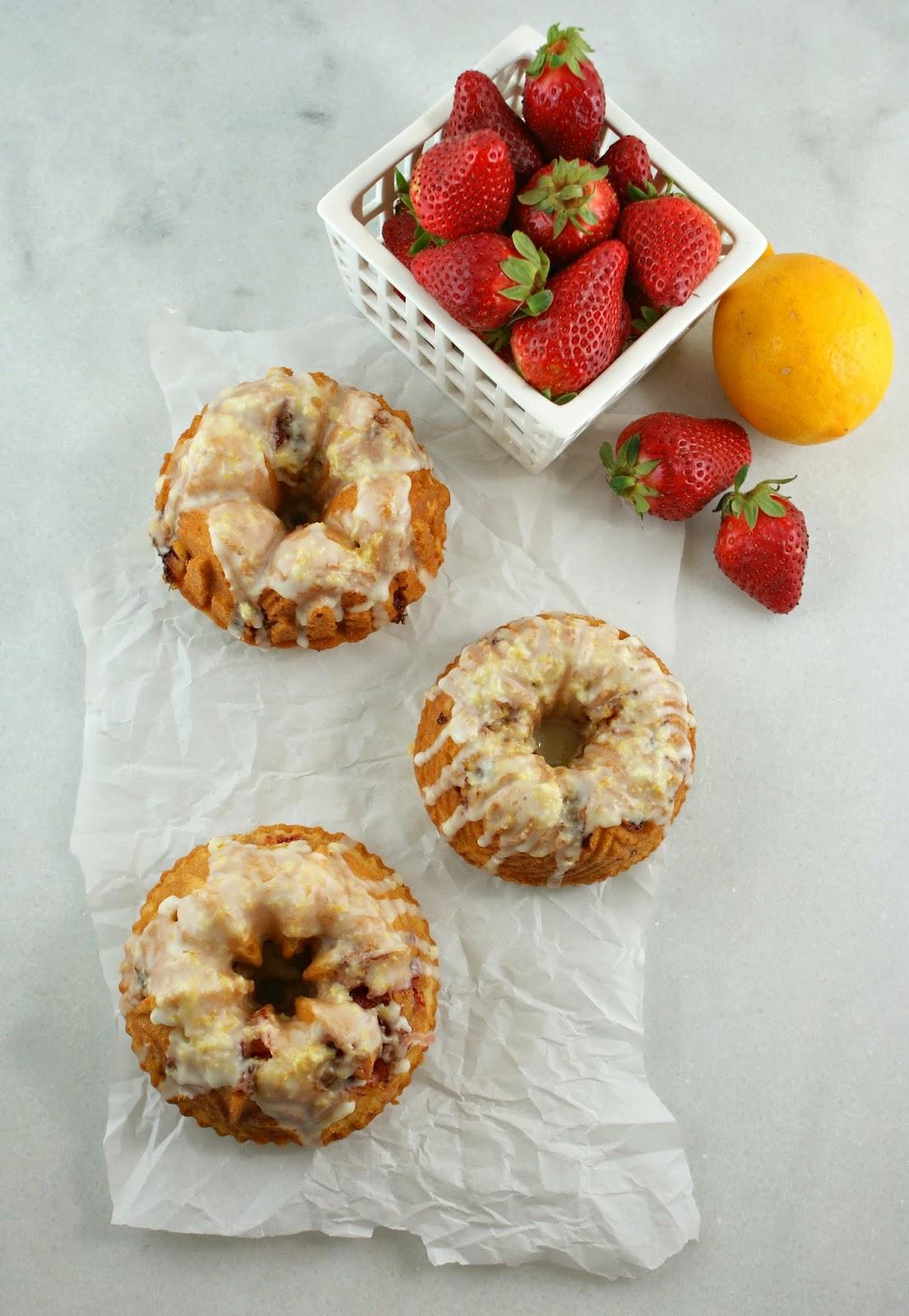... : Mini Meyer Lemon and Strawberry Bundt Cakes   Secret Recipe Club