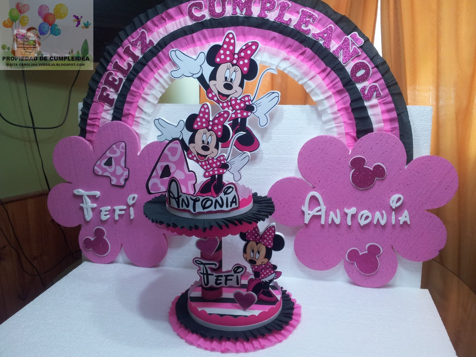 Decoracion Minnie Fucsia ~ DECORACIONES INFANTILES minnie fucsia