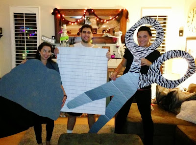 DIY trio costume