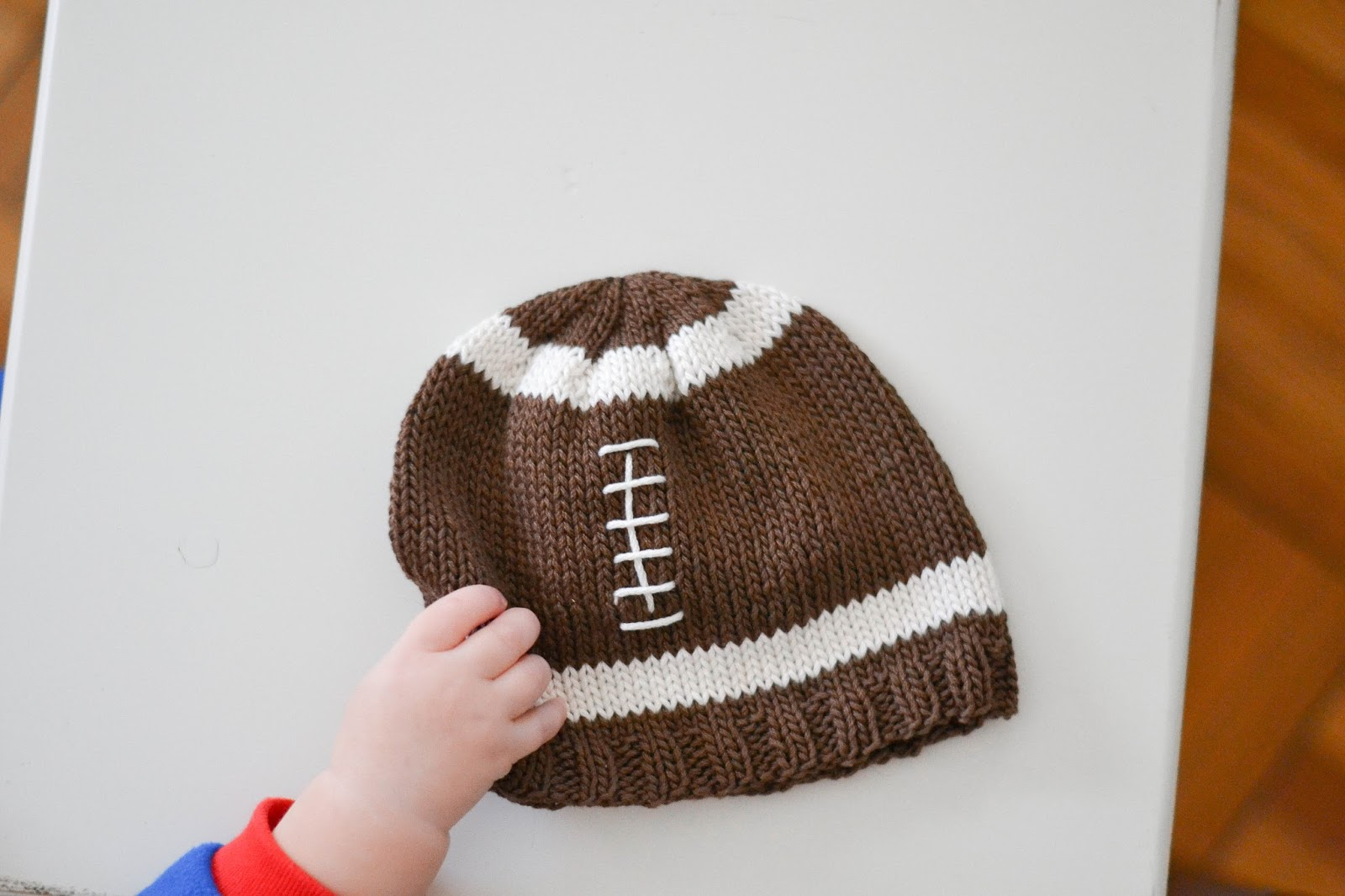 Little and Lovely: Knit Football Hat Pattern