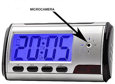 Plafoniera Da Esterno Con Telecamera : Orologio sveglia da scrivania spia o spy con telecamera ingrosso