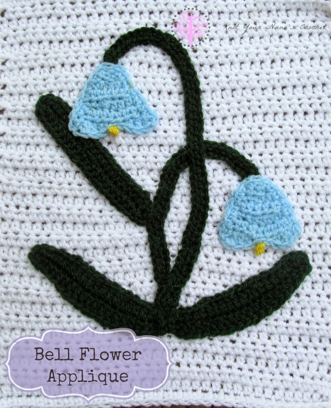 Bell Flower Crochet Applique