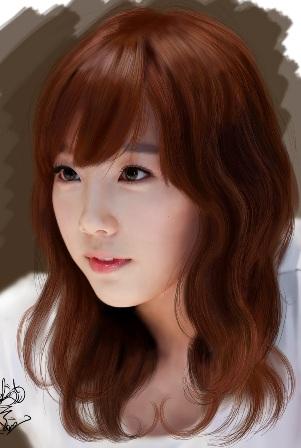 Model rambut artis korea wanita