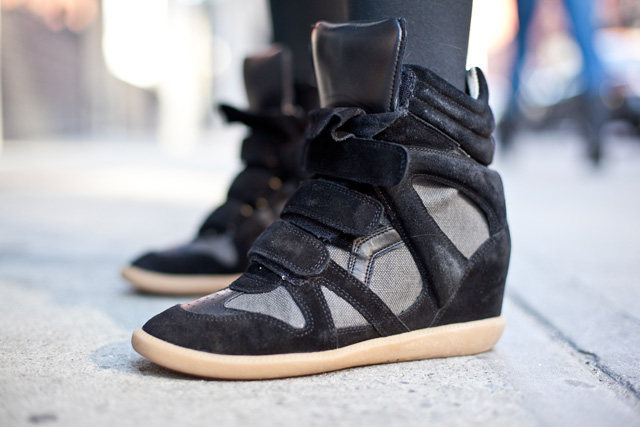 black isabel marant sneaker wedges